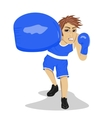 Young boxer hitting and punching looking angry vector image