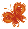 orange butterfly vector image vector image