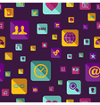 Social media flat icons seamless pattern vector image vector image