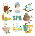 spa body relax and woman skincare treatments vector image