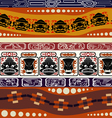 Seamless Indian pattern with masks vector image vector image