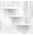 Layers Blank light wooden shelf  EPS10 vector image vector image