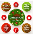 Set of round frames with Christmas greetings vector image
