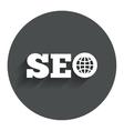 SEO sign icon Search Engine Optimization symbol vector image