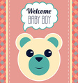 Welcome Baby Boy Card vector image vector image