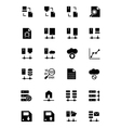 Database and Server Icons 5 vector image