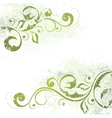 artistic floral motif vector image