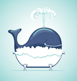 Funny whale in a bath vector image