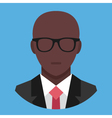 Black Man in Business Suit Icon vector image