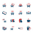 car wash service icon set vector image