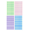 Four pastel color mats vector image