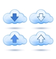 glossy cloud with arrow vector image
