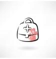 medicine chest grunge icon vector image