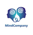modern head logo of psychology profile human man vector image