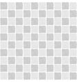 Seamless pattern of squares in sketch style vector image