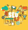 Set of modern SEO social marketing to publishing vector image