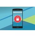smartphone security vector image
