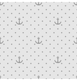 Tile sailor pattern with anchor and polka dots vector image