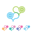 two color connected hearts an emblem vector image