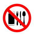 with food and beverages are not permitted vector image
