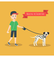 funny cartoon guy with mobile phone that walking vector image