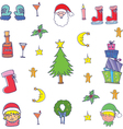 Doodle of object christmas color vector image