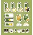 Battery recycling icons set vector image vector image