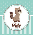 baby shower card invitation decorative ornament vector image