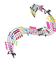 Music notes background stylish musical theme vector image