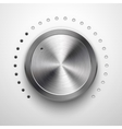 Abstract Technology Volume Knob with Metal Texture vector image