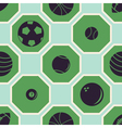 seamless pattern with sport balls vector image