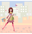 Woman shopping2 vector image