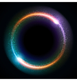 Abstract sparkling technology circle vector image