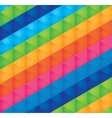 background bright multicolored triangles vector image