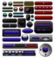carbon digital button collection vector image