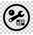 date and time setup rounded icon vector image