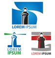 lighthouse symbol set vector image
