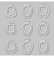 Set of laurel wreaths shields vector image
