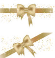 two christmas banners with golden bows vector image