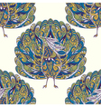 seamless pattern with peacock vector image vector image