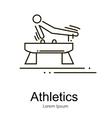 Gymnastics athlete at Pommel Horse doing exercise vector image