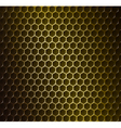 Gold metal grid vector image vector image