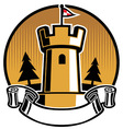 castle mascot vector image vector image