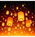 Thailand Loy Krathong and Yi Peng Festival vector image
