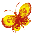 yellow butterfly vector image vector image