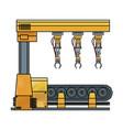 robotic arm assemble line mechanic manufacturing vector image