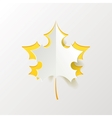 Abstract Yellow Maple Leaf Isolated on White vector image vector image