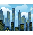 Cartoon city background vector image