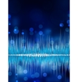 Abstract bokeh waveform background EPS 8 vector image vector image