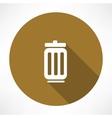 trash can icon vector image